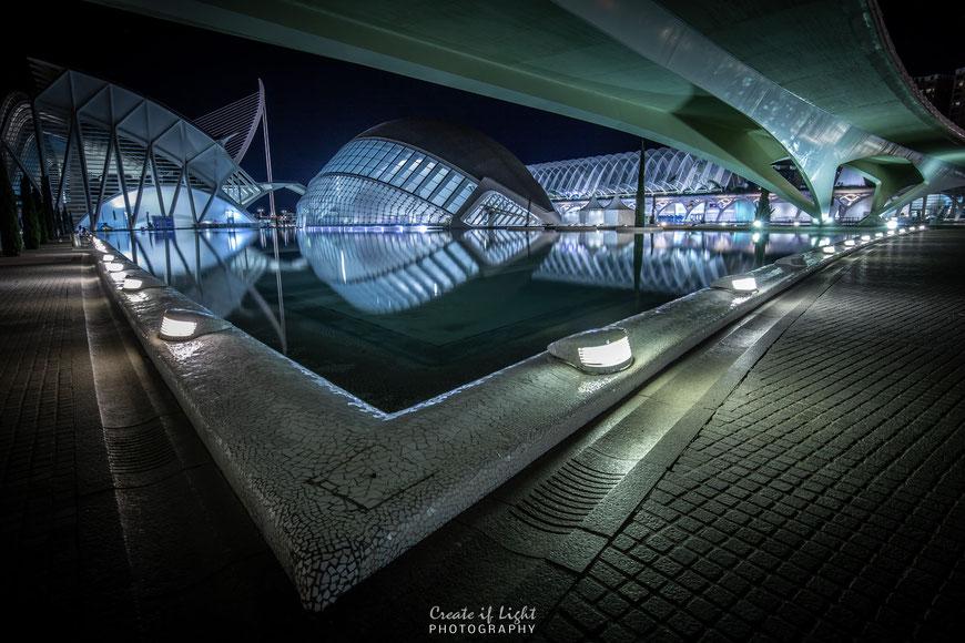 Atemberaubende Architektur Ciutat de les Arts i les Ciències