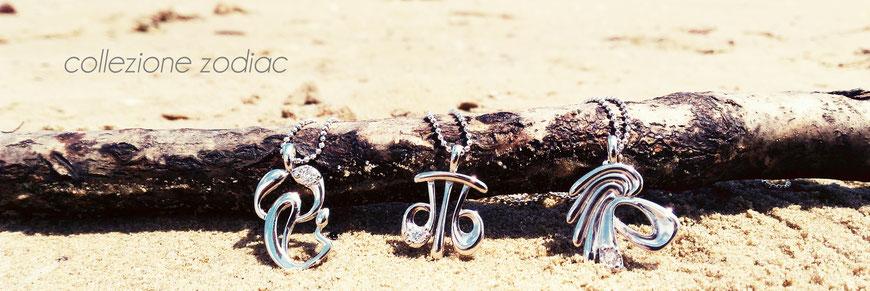 gioielli biancopunto collezione zodiac - ciondoli segni zodiacali