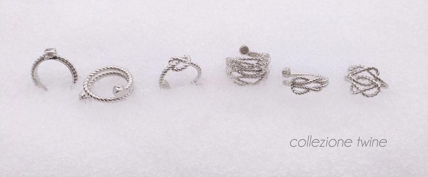 gioielli biancopunto collezione twine - anello