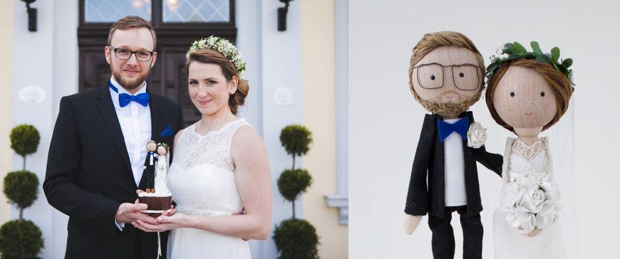 urbane Hipsterhochzeit in Berlin mit personalisierter Hochzeitsfigur