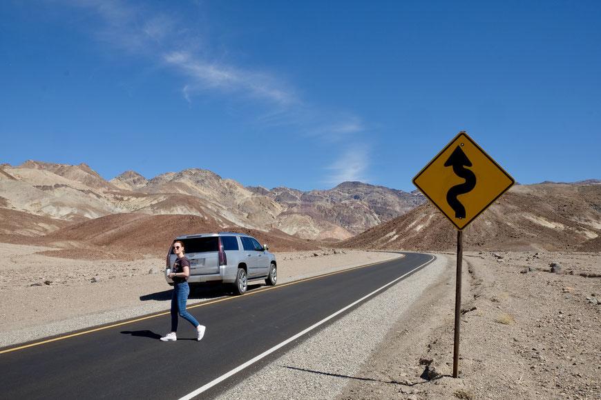 Artist's Drive Death Valley