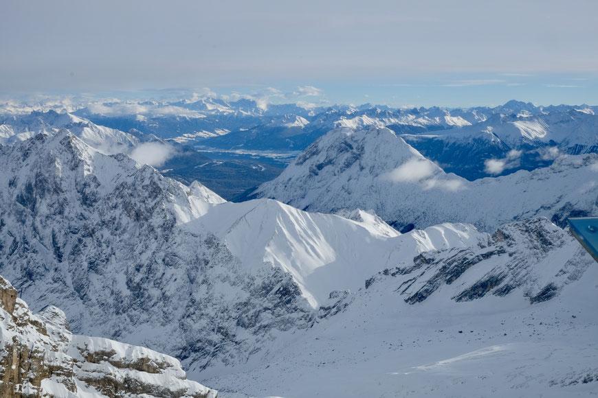 Вид с Цугшпитце Zugspitze