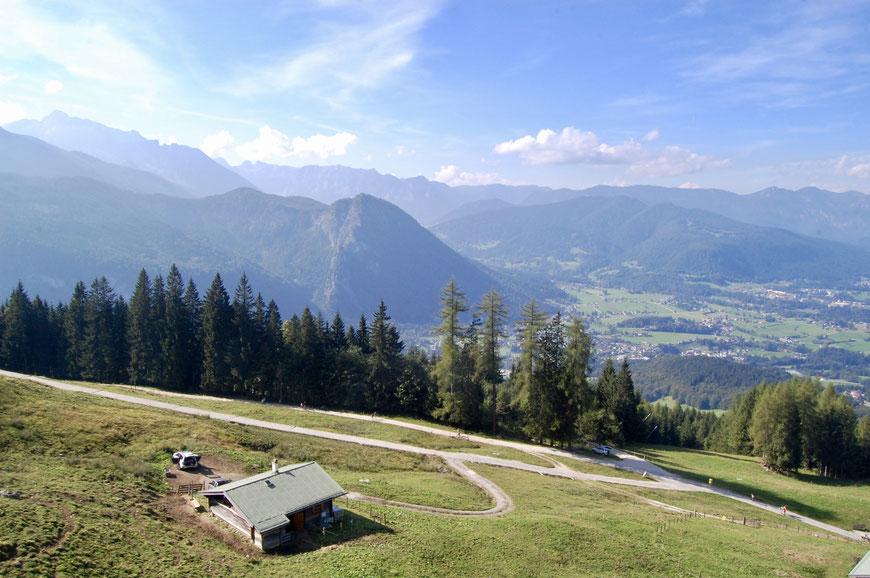 вид с подъемника Йеннербан в Альпах у Кенигзее
