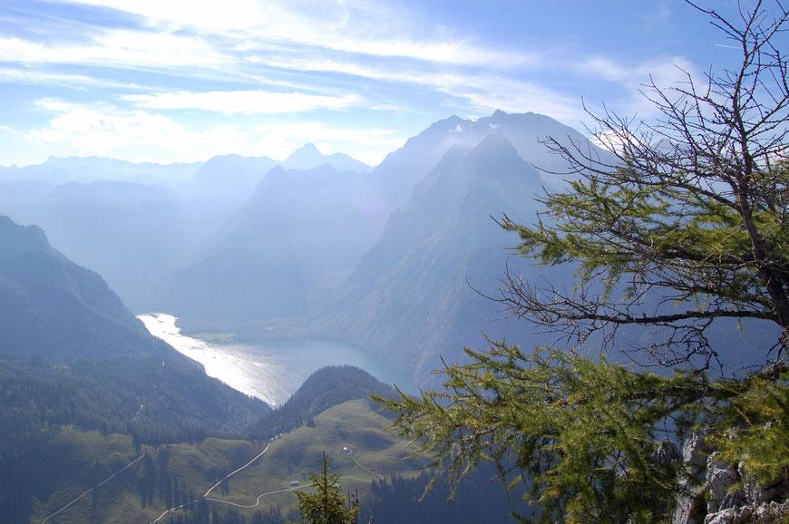 Вид на Кенигзее с горы Йеннер