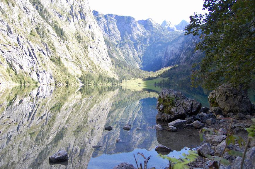 Озеро Оберзее в Альпах