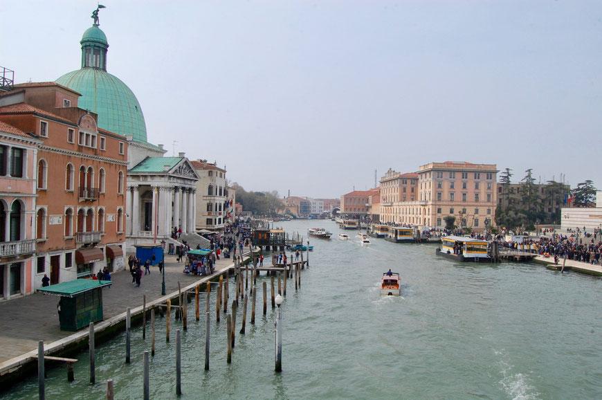 Вид с моста Скальци в Венеции
