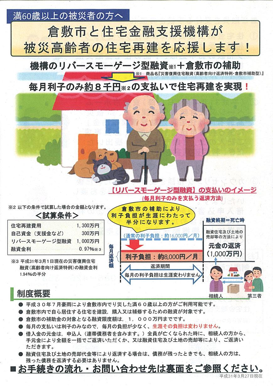 倉敷市ー被災高齢者の住宅再建の支援