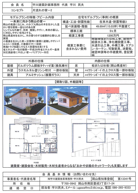 水害復興住宅 片流れの家ー2