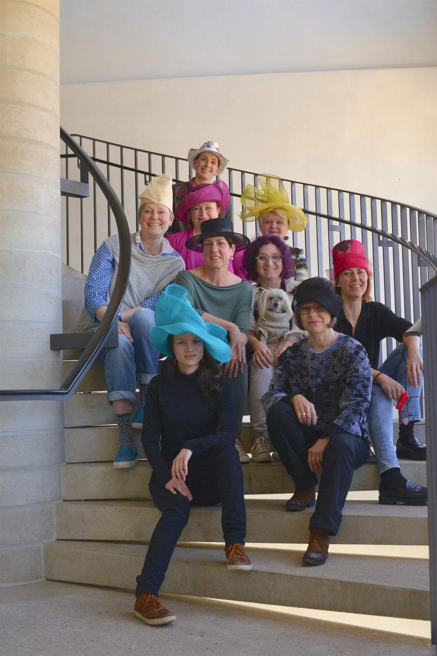 Workshop Christine Rohr Academy - Sommerhüte aus Sinamay