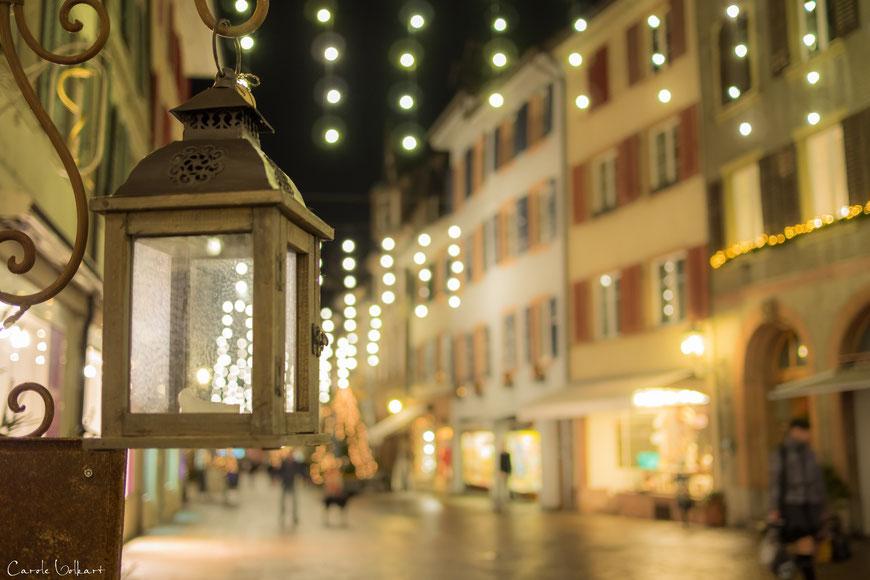 Weihnachtsbeleuchtung in der Altstadt von Rheinfelden