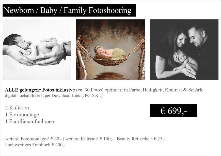 Newborn Baby Family Preise Fotoshooting Wien