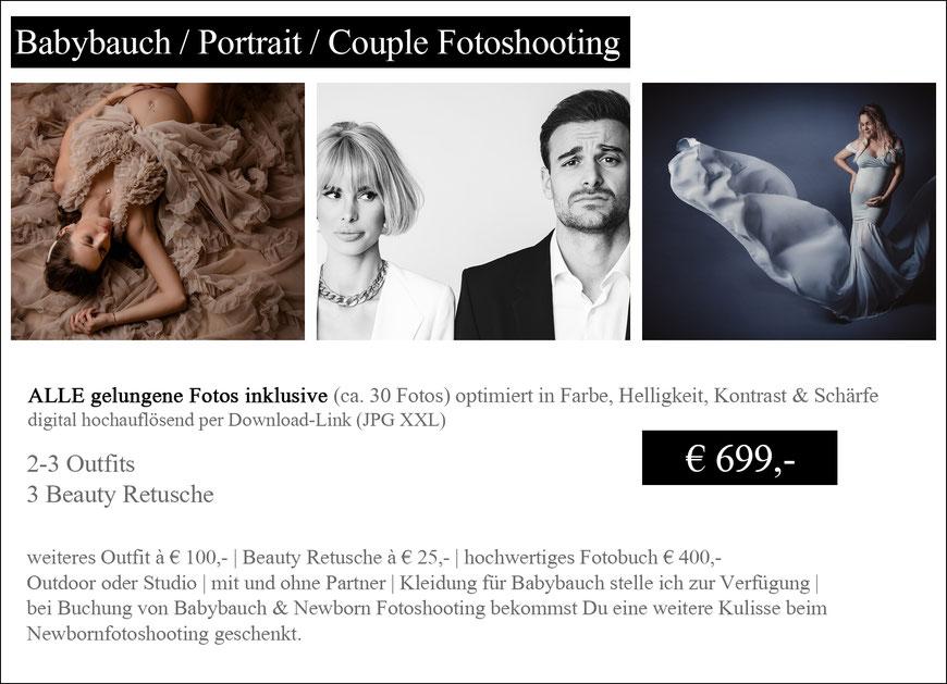 Babybauch Fotoshooting Wien Maternity Portrait Couple Preise