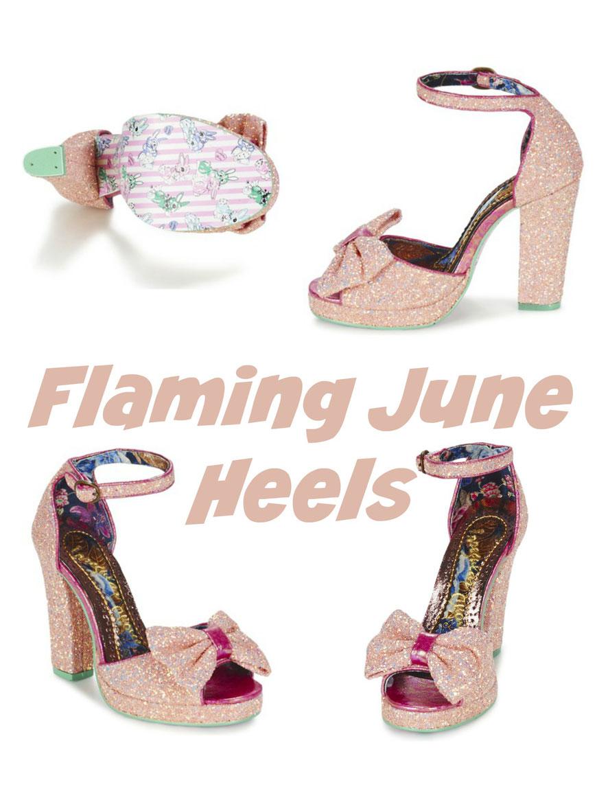 Flaming June sparkle Heels