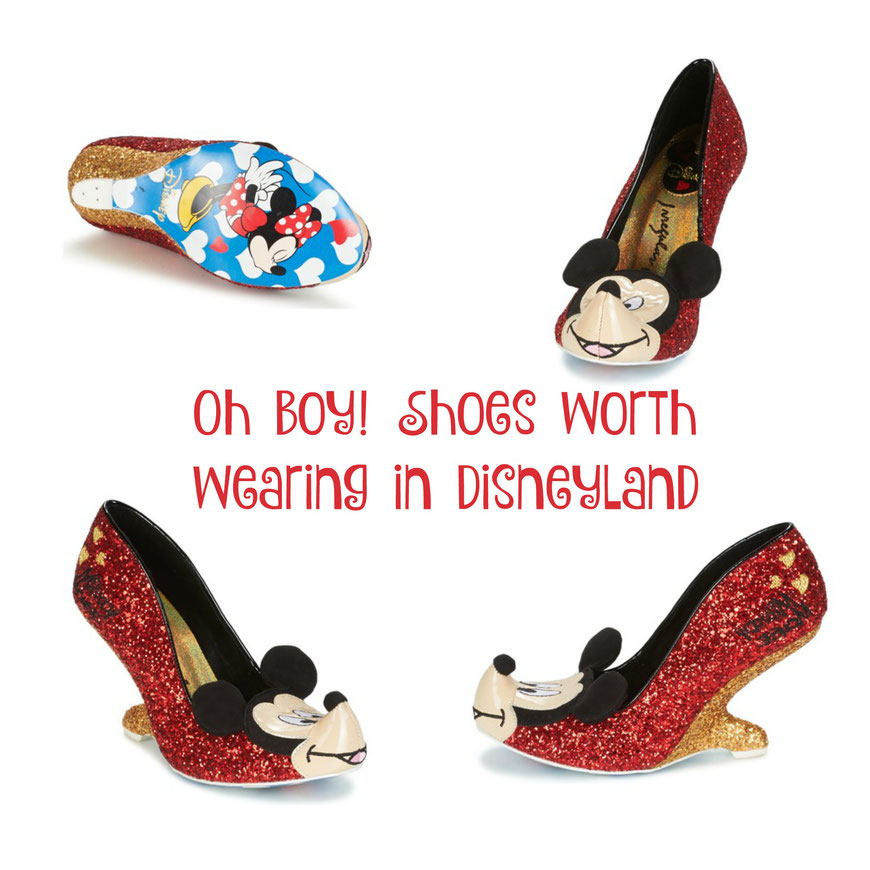 Oh Boy! Micky Mouse High Heels worth wearing with pride in Disneyland or Duckburg