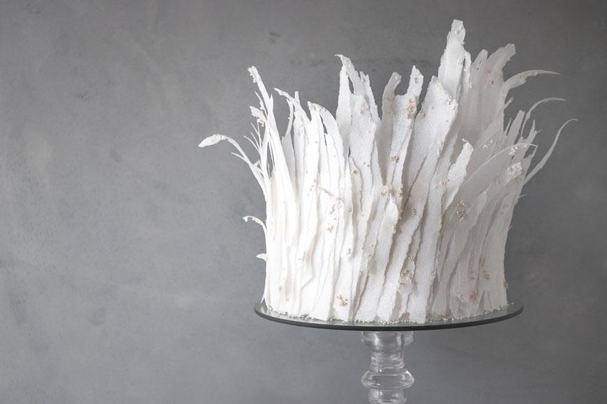 Winterhochzeit Wintertorte elegant modern Saarland Luxemburg Destination Wedding Cake