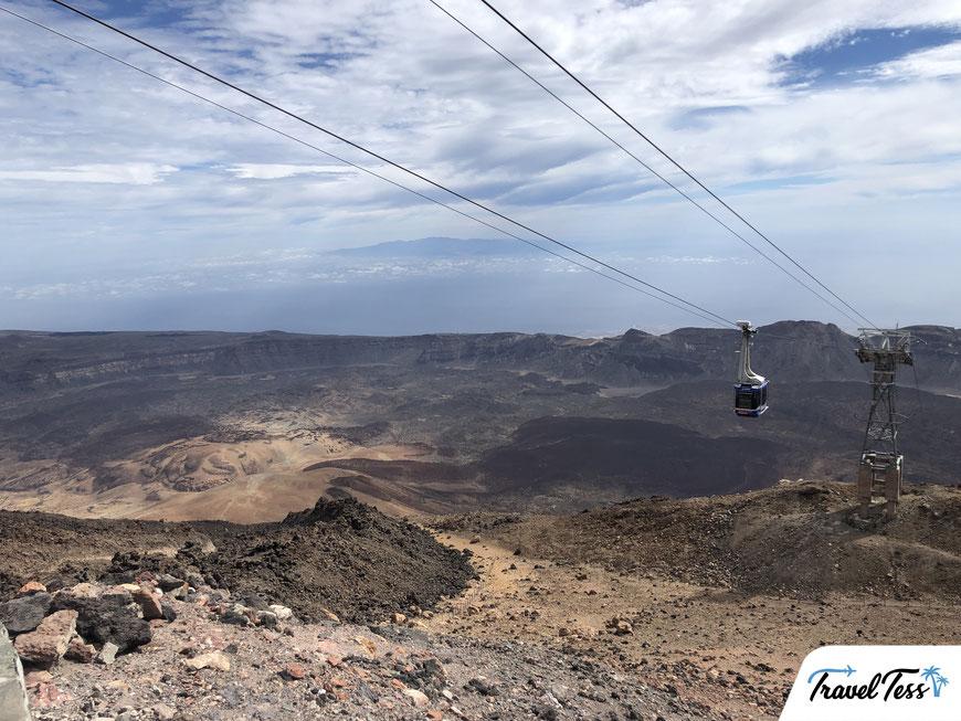 Met de kabelbaan naar de top van El Teide