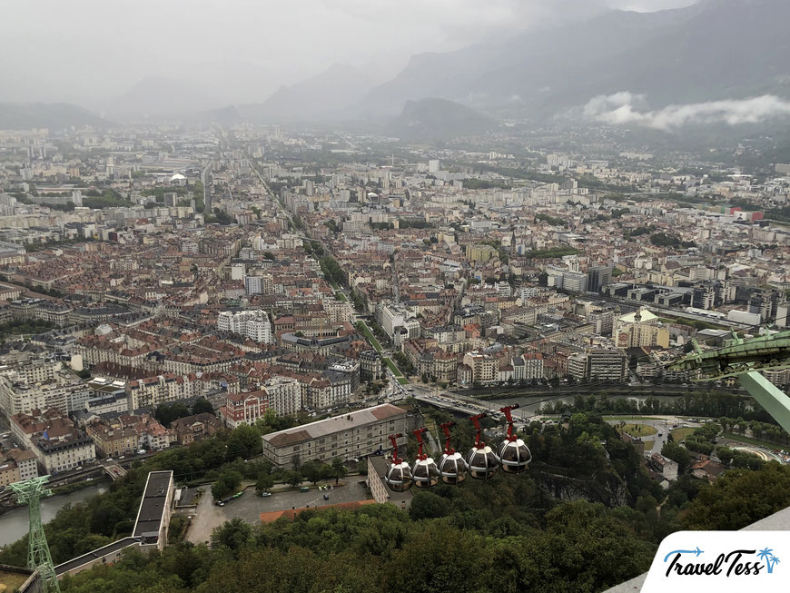 Uitzicht over Grenoble