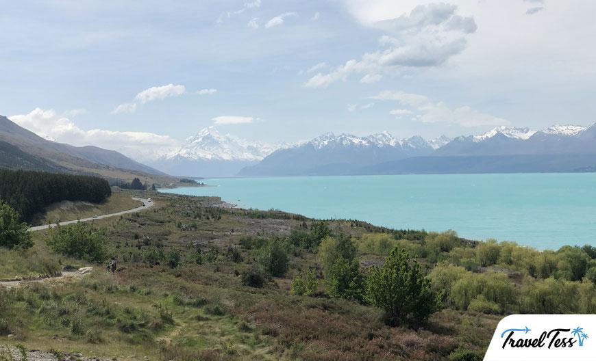 Lake Pukaka met Mount Cook op de achtergrond