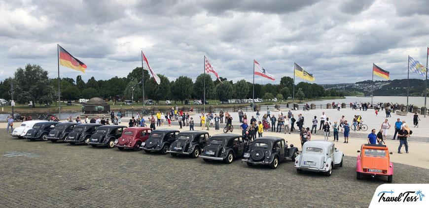 Classic Cars bijeenkomst bij Deutsches Eck