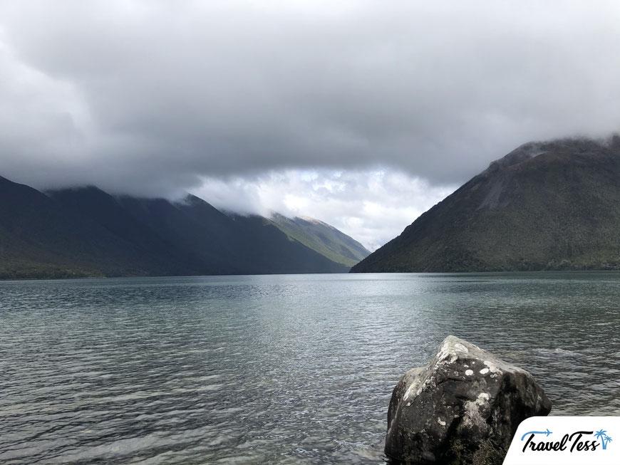 Bewolking rond de Nelson Lakes