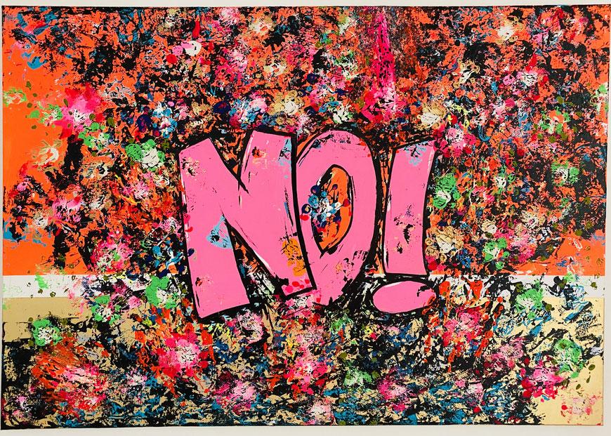 JAIN (2020), 70cm x 100cm (Acrylic/Edding on Canvas)