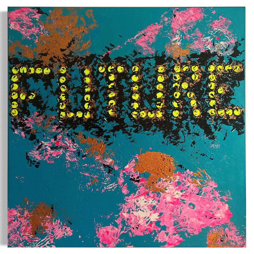 FUTURE (2019) 100cm x 100cm (Acrylic/Edding on Canvas)