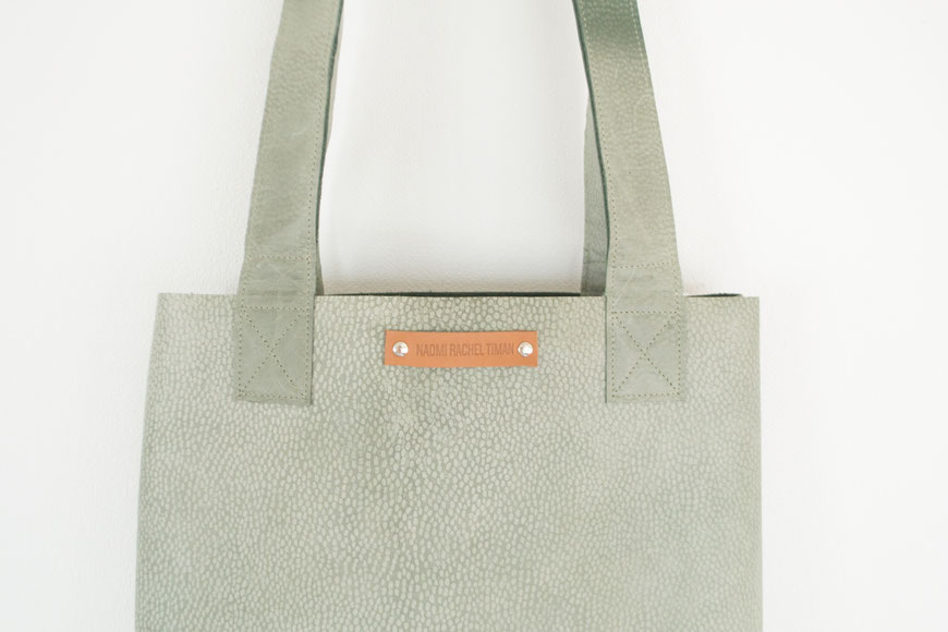 Leren shopping bags