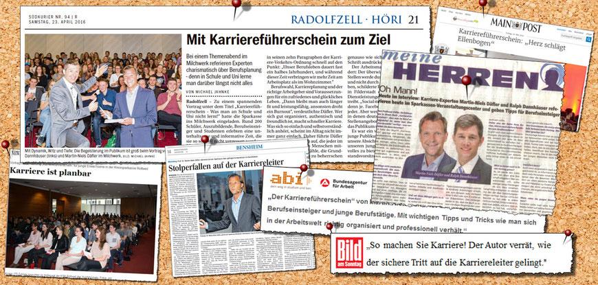 """Presseartikel zur Vortragsshow """"Karriereführerschein"""""""