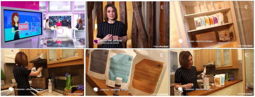 La Galibox de Galipoli dans C'est au Programme sur France 2 pour un reportage sur la lessive et ses dangers