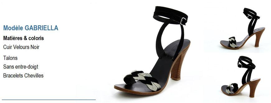 ©K.Jacques, modèle Gabriella, sandale en cuir à talon_Archi'Tendances