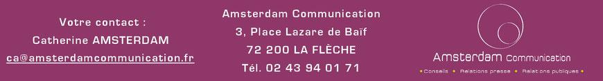 Votre contact : Catherine Amsterdam de l'agence Amsterdam Communication