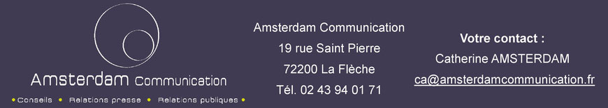 Votre contact : Catherine Amsterdam de l'agence RP Amsterdam Communication