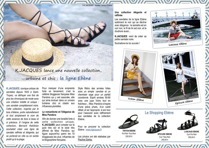La collection Ebène de K.Jacques est associée à la blogueuse Miss Pandora