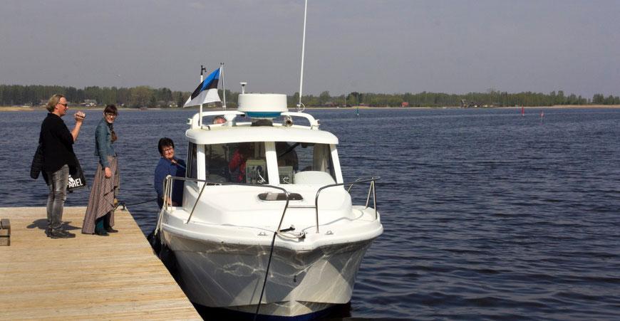Laivu Setoline galima paplaukioti po Pskovo ežerą Setomoje
