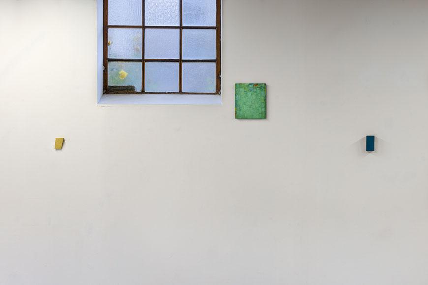 Andreas Keil, Couleur sans titre, Malerei, Ausstellung, zusammen mit Peter Tollens und Michael Toenges, L´H du Siège, Valenciennes, Frankreich, 2019