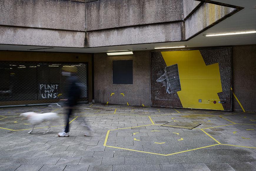Andreas Keil, Malerei, CUT, Plakatwand, Ebertplatz, Köln, 2021