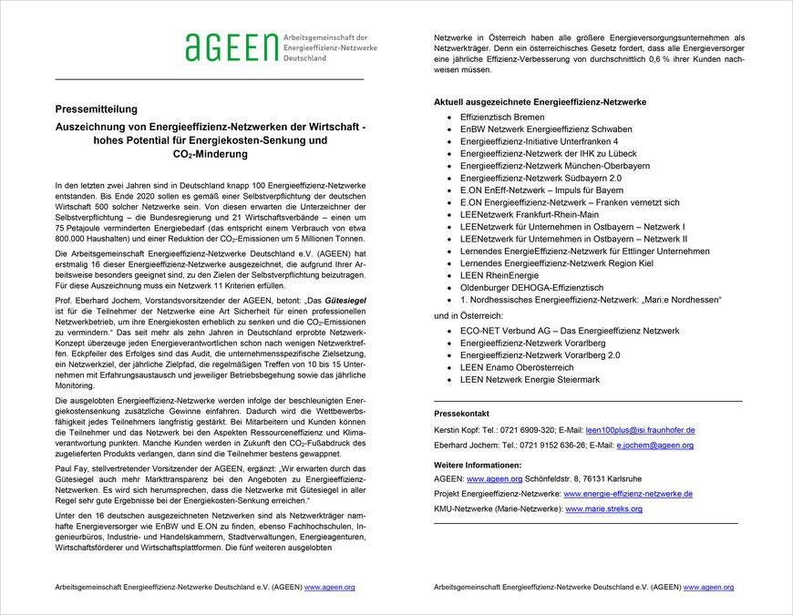 Auszeichnung für das Lernenden Energieeffizienz-Netzwerk _region Kiel