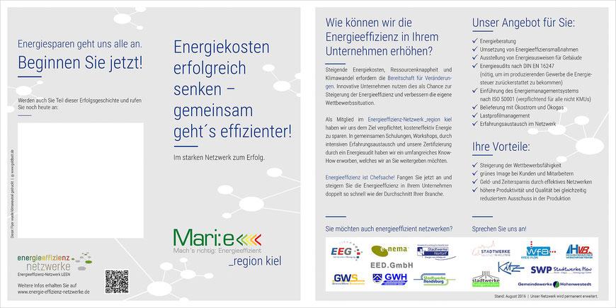 Flyer Energieeffizienz-Netzwerk Region Kiel