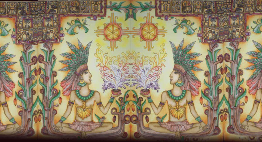 Cacao Mama cacao source artwork drawing history and spirit