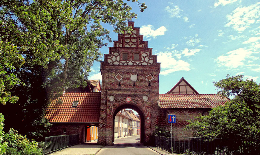 Steintor der ehemaligen Stadtbefestigung von Salzwedel (Hansestadt)