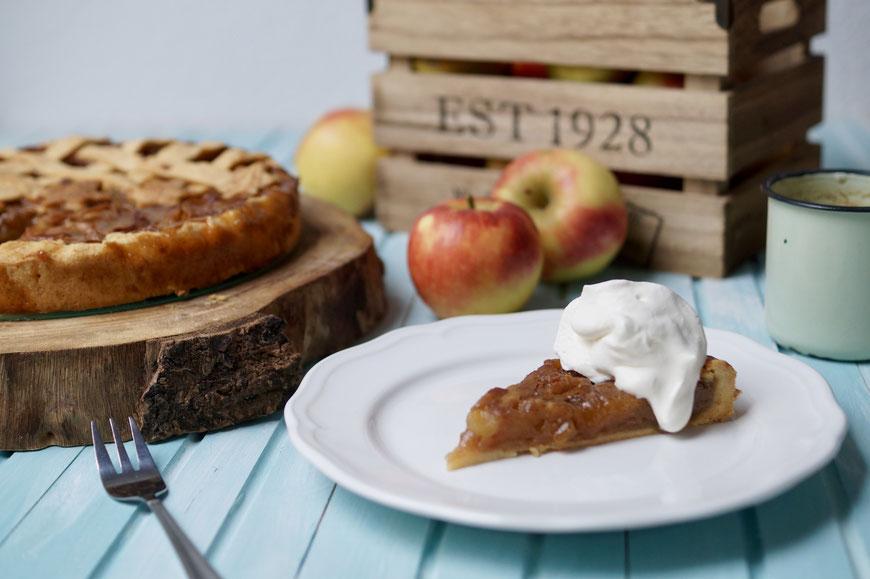 Salted Caramel Apple Pie Apfelkuchen mit Salzkaramell Backen Kuchen
