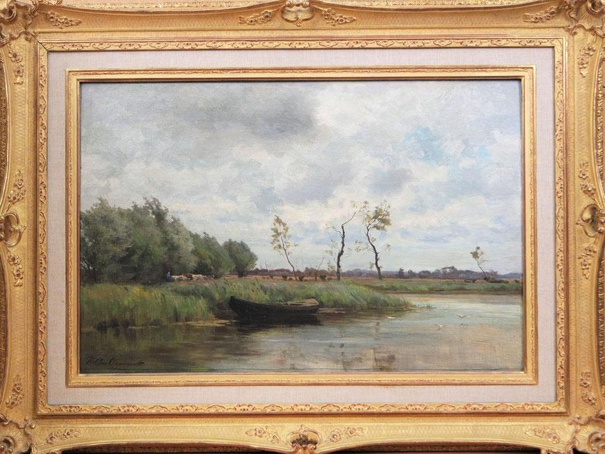te_koop_aangeboden_een_schilderij_van_de_nederlandse_kunstschilder_willem_johannes_oppenoorth_1847-1905_haagse_school