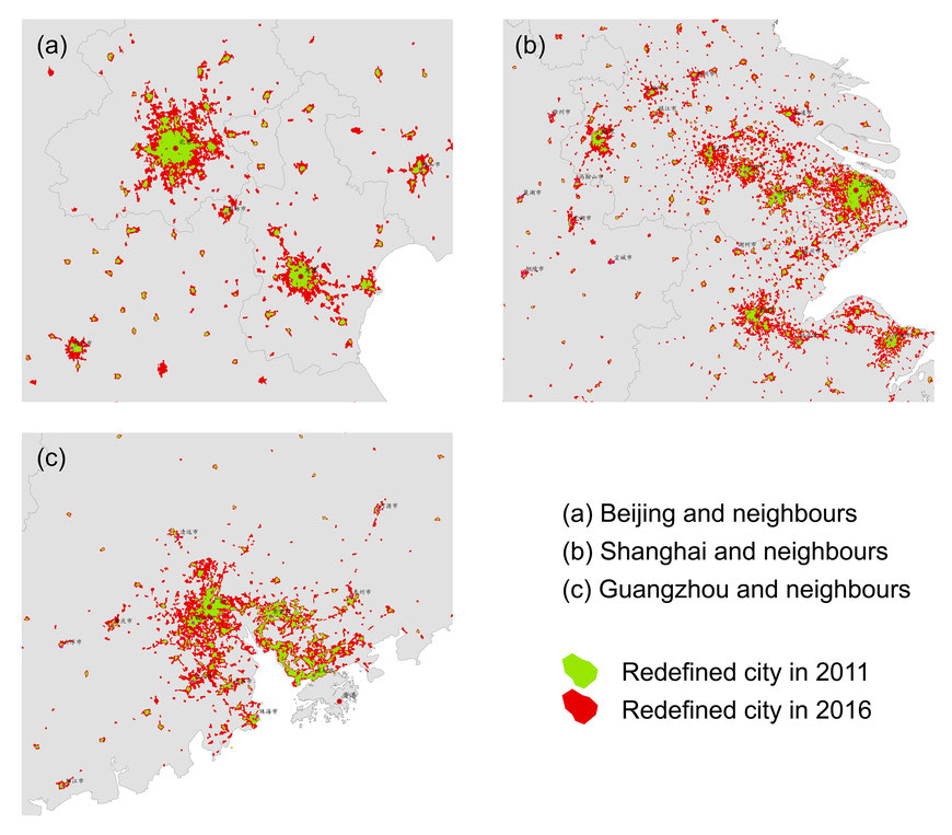 39 Boundaries and blocks in redefined cities of China 2011