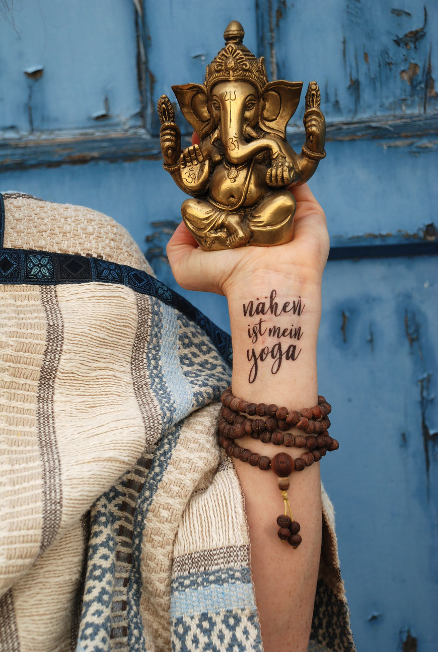 Katjuschka Das Cape - nähen ist mein Yoga - Ganesha - Mala
