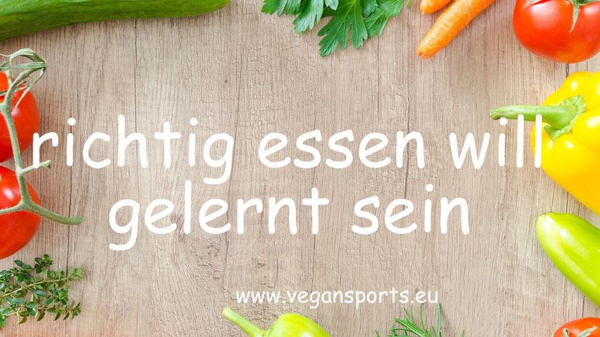 Abnehmen - richtig essen will gelernt sein - vegansports fit & healthy