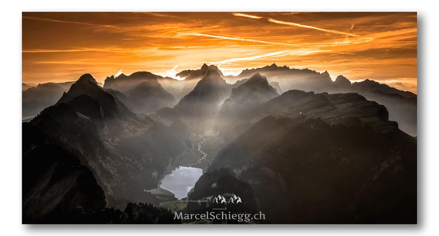 Hoher Kasten, Sämtisersee, Appenzell, Appenzellerland, Schweiz, Alpstein, Marcel Schiegg, Schweiz, Switzerland, Säntis, Staubern, Alp Sigel, Bollenwees, Seealpsee, Bollenwees