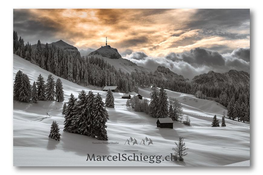Winterimpressionen, Winter, Alpstein, Appenzellerland, Winterwonderland, Eis, Schnee, Appenzell, Marcel Schiegg, Säntis, Seealpsee, Natur, Winterzauber, Weihnachten, Weihnachtskarten, Fotografie