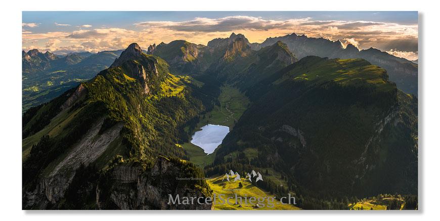 Hoher Kasten, Alpsteinpanorama, Alpstein, Appenzell, Appenzellrland, Sämtisersee, Säntis, Staubern, Plattenbödeli, Marwees, Kreuzberge, Marcel Schiegg, Dreifaltigkeit, Altmann, Ebendalp, Schäfler