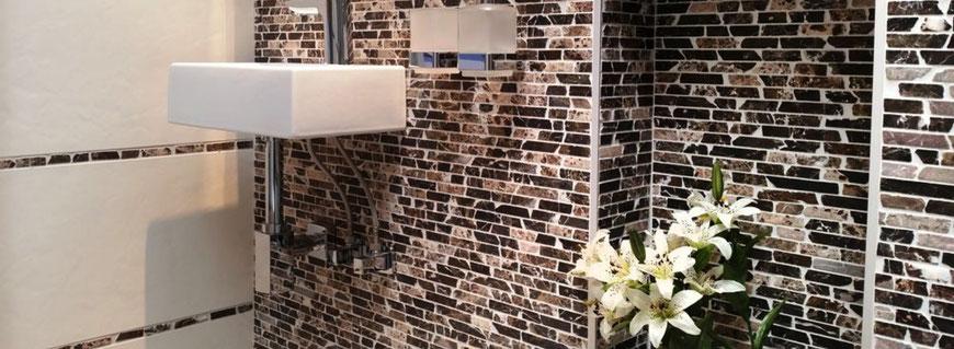 mosaico in marmo muretto