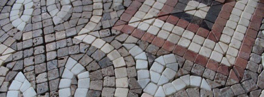 mosaico esagonale bianco